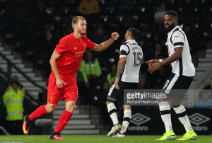 We've been working on set pieces, insists Ragnar Klavan after netting first Liverpool goal against Derby