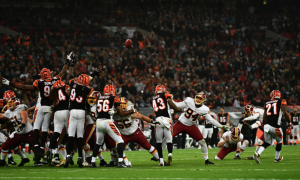 Washington Redskins and Cincinnati Bengals tie game at Wembley