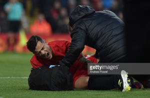 Liverpool midfielder Philippe Coutinho out for up to six weeks with ankle ligament damage