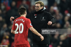 Jürgen Klopp full of praise for Adam Lallana after midfielder signs new Liverpool contract