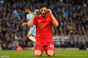 Liverpool manager Jürgen Klopp: Adam Lallana apologised for missing late chance in Manchester City draw