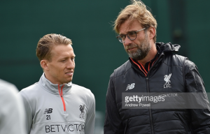 Liverpool duo Lucas Leiva and Joël Matip train separately ahead of Crystal Palace visit