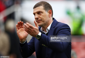 "West Ham boss Slaven Bilić ""pleased"" with performance at Stoke but insists Hammers aren't yet safe from relegation"