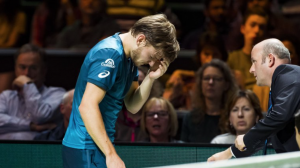 David Goffin's eye injury not serious; withdraws from Marseille next week