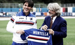 """L'aeroplanino a San Siro cerca la prima vittoria, Ferrero: """"Ora ho Montella, il migliore al mondo"""""""