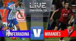 Resultado Ponferradina vs Mirandésen Liga Adelante 2015(2-2)