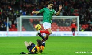 Siete jugadores txuriurdin con la Euskadiko Selekzioa