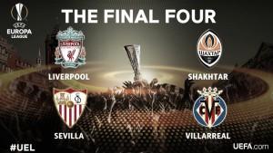 Sorteo semifinales Europa League 2016: Shakhtar - Sevilla, Villarreal - Liverpool