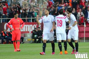 Fotos e imágenes del Sevilla 2-2 Barcelona, jornada 31 de Primera División