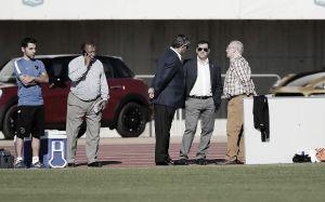 Vicente Casado y los consejeros consultivos apoyaron al Málaga en el entrenamiento