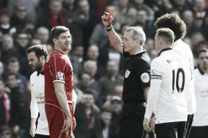 Steven Gerrard apologises for his dismissal against rivals Manchester United