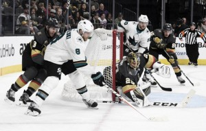 San Jose Sharks steal one in double overtime to even series
