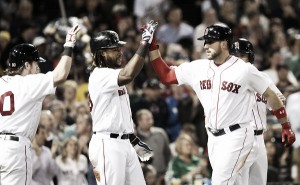 Boston Red Sox use strong offensive performance to defeat Oakland Athletics