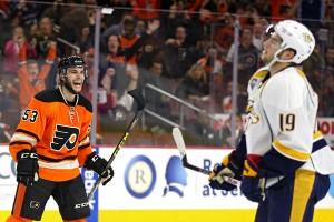Philadelphia Flyers' Shayne Gostisbehere Haunting Competition