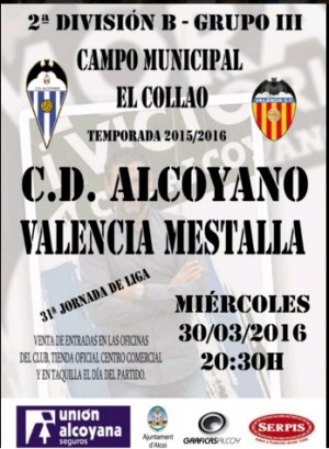 """Previa CD Alcoyano SAD - Valencia Mestalla: en la zona del """"Confort"""""""