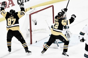 Conor Sheary's overtime winner gives the Pittsburgh Penguins a 2-0 series lead over the San Jose Sharks
