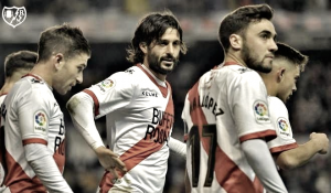 Chori Domínguez, el delantero volvió a Vallecas