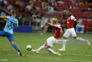 As it happened: Smith Rowe impresses but Atletico Madrid beat Arsenal on penalties in pre-season