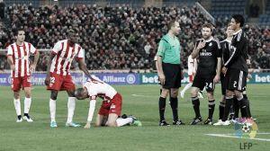 Soriano sufrió un esguince de grado dos frente al Real Madrid