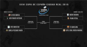 Sorteados los cruces de la XXVI Copa de España de fútbol sala