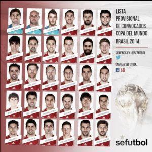 Del Bosque announces preliminary 30 man squad