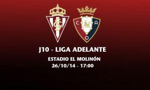 Sporting de Gijón - Osasuna: un partido que huele a Primera