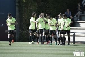 El Sporting vuelve de Barcelona con un jugoso resultado