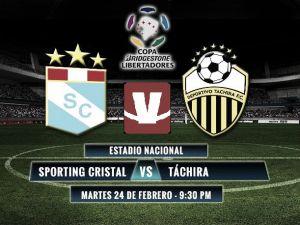 Sporting Cristal vs Deportivo Táchira en vivo online