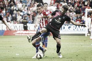 La presentación del Tenerife, contra el Sporting de Gijón