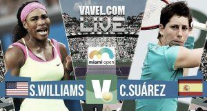 Resultado Serena Williams vs Carla Suárez en Miami 2015 (2-0)
