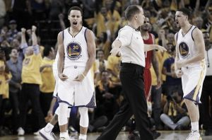 Curry ed Harden al fulmicotone. Golden State chiude la porta e va 2-0