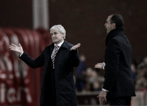 "Mark Hughes says his side ""did not create enough"" following 3-0 defeat To Everton"