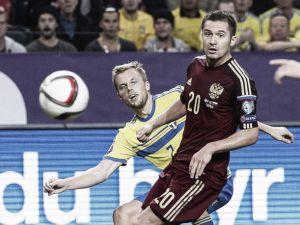 Suecia salva un empate ante Rusia sin Ibrahimovic