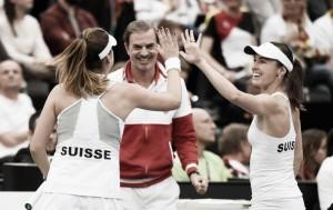 Suiza sorprende a Alemania y accede a semis de la Fed Cup