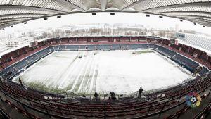 Suspendido el partido entre Osasuna y Real Zaragoza por la nieve