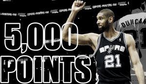 Tim Duncan alcanza los 5.000 puntos en Playoffs
