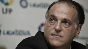 """Tebas: """"Es complicado que Pedro León sepa que va a cobrar en el Getafe"""""""