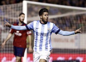 """Samuel García: """"Es una suerte haber metido el gol 1.200 en la historia del Málaga CF"""""""