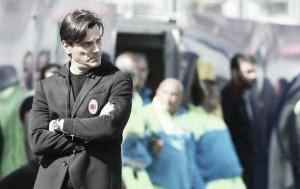 """Montella demonstra confiança após novo tropeço do Milan: """"Ainda estamos na briga"""""""