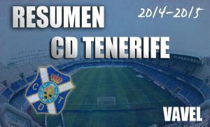 Resumen temporada 2014/2015 del CD Tenerife: altas expectativas, cruda realidad