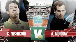 Resultado Kei Nishikori vs Andy Murray en las semifinales del Mutua Madrid Open 2015 (0-2)