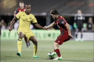 Result of Columbus Crew SC and Toronto FC in MLS Cup Conference Championship First Leg (0-0)
