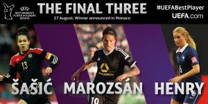 Sasic, Marozsán y Henry, candidatas a mejor jugadora de Europa