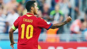 Thiago Alcantara will miss the World Cup this summer