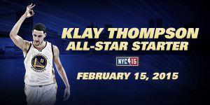Klay Thompson y James Harden, titulares en el All-Star Game