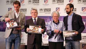 El Atlético de Madrid muestra su lado más solidario