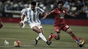 El Málaga no dejó arrancar al Deportivo