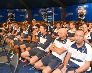 "Sampdoria, sorrisi e presentazioni. Zenga: ""Entusiasmo si tramuterà in risultati"""