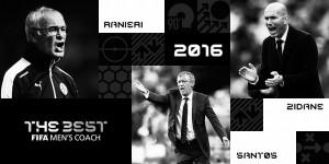 Ranieri, Zidane e Santos são indicados ao prêmio de treinador do ano Fifa