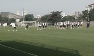 Santos segue preparação para jogo contra América-MG pelo Campeonato Brasileiro